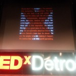 The Main Screen at TEDx Detroit
