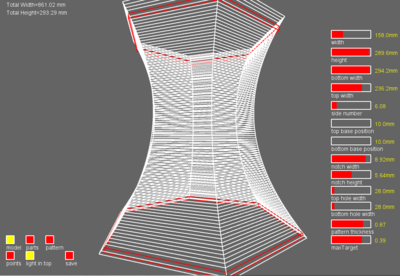 Wireframe rendered in Codeable Objects UI
