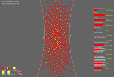 Voronoi generating points and web pattern in Codeable Objects UI