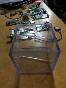 Balloon project payload housing and spare GPS parts
